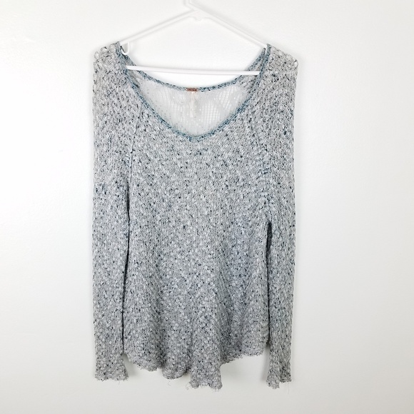 6ca760ce4d65 Free People Sweaters - Free People Oversized Crochet Tunic Top S
